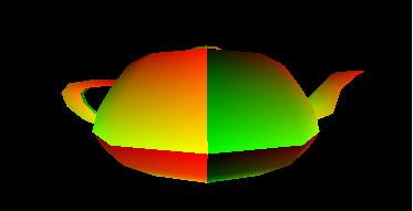 Colors representing 2D texture coordinats